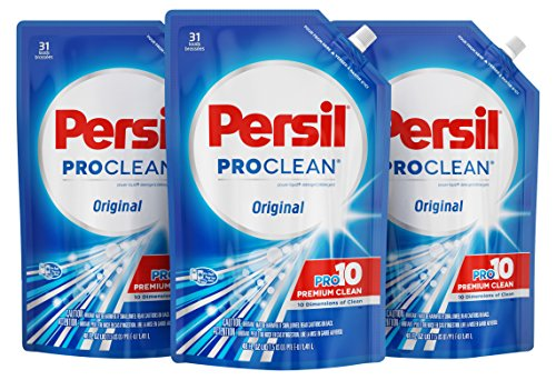 Persil Liquid Laundry Detergent Easy-Pouch, Original, 48 Ounce, 3 Count, 93 Total Loads