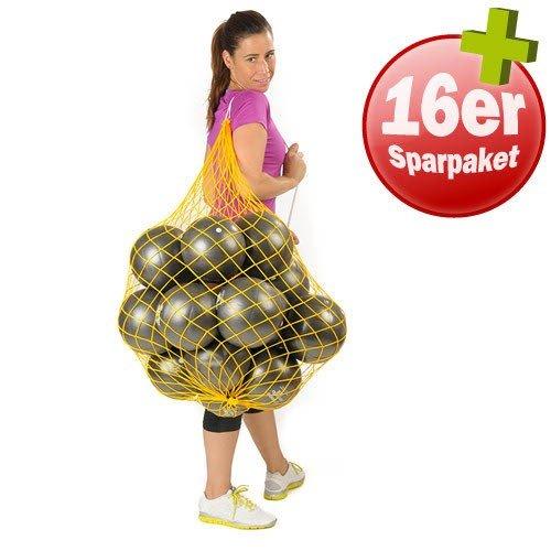 TOGU 16 ROTondo Bälle 18 cm plus Ballnetz Pilates Gymnastik Soft anthrazit