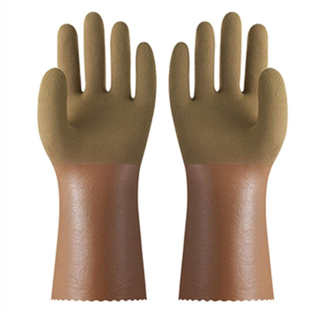 SHWSM Anti-Corrosion and Acid-Resistant Gloves Nitrile Rubber Gloves Chemical Fishing Gloves Industrial Anti-Chemical, Oil-Resistant, Wear-Resistant and Durable