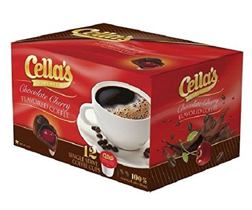 Cherry Coffee - Cella's Chocolate Cherry Flavored Coffee, 12 count