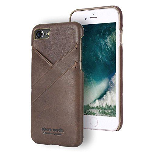 Capa para iPhone 7 iPhone 8, Pierre Cardin, PC19-04, Marrom Escuro