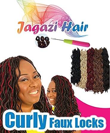 Amazon Com Crochet Curly Faux Locks Dreadlocks Dread Locs