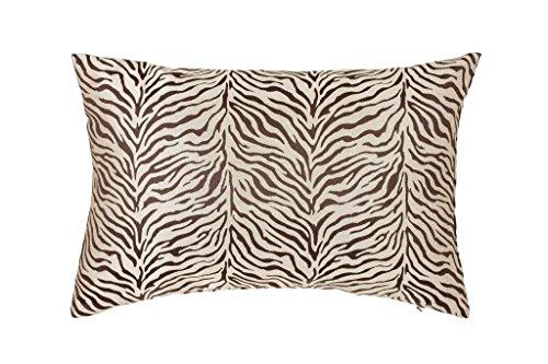 (DreamHome - Zebra Decorative Pillow Cover/Sham (Brown, 12 X 18))