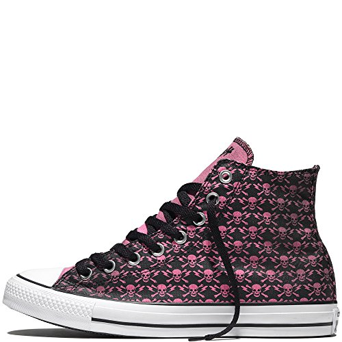 Converse Chuck Taylor All Star High The Clash Kollektion Limited Edition Skulls, Bones and Flashes Black / Chateau - Rose / White 155073C 11.5 MENS 13.5 WOMENS 11.5 UK 46 EU 30 CM