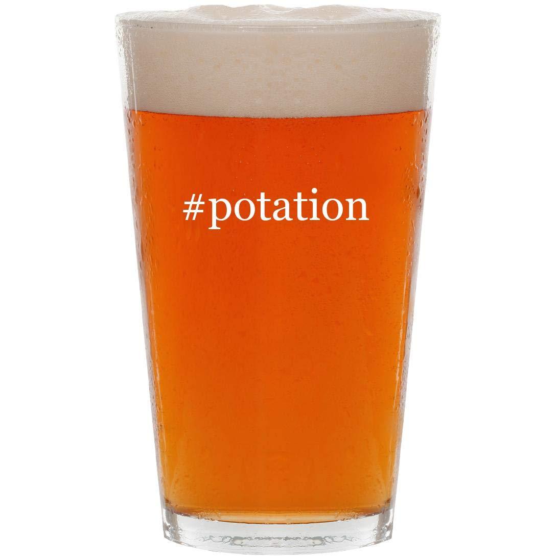 #potation - 16oz Hashtag Pint Beer Glass