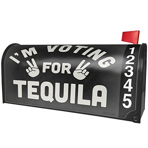 NEONBLOND I'm Voting Tequila Funny Saying Magnetic Mailbox Cover Custom Numbers