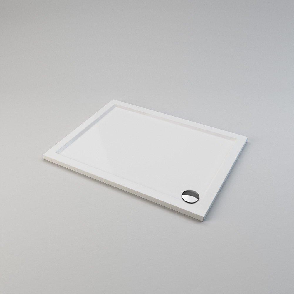 ELEGANT 800mm Walk in Shower Enclosure 6mm Tempered Safety Glass Wetroom Shower Screen Panel