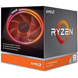 AMD Ryzen 9 3900X 12-core, 24-thread unlocked desktop processor with Wraith Prism LED Cooler 51MmCrGECmL. SS300