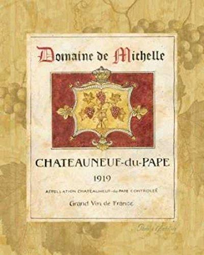Posterazzi Chateauneuf du Pape Poster Print by Pamela Gladding (24 x 30)