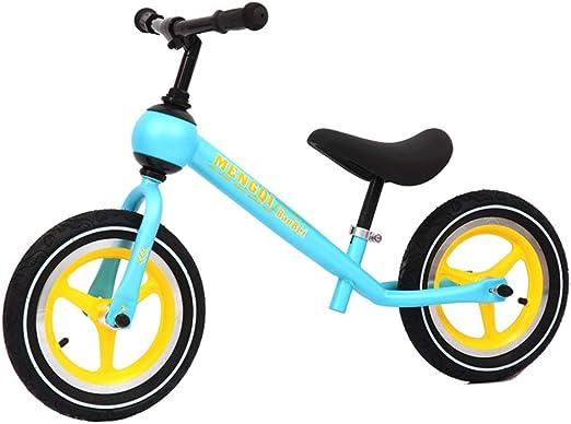 Balance Bike Niños bicicleta de equilibrio niños pequeños de 12 pulgadas Classic Ligera Sin pedal de