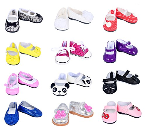 Ebuddy 7pair Doll Shoes Random Diffrent Style For 18 inch Doll 18 Doll Shoes