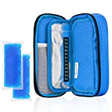 insulated bag for insulin - YOUSHARES Insulin Cooler Travel Case - Medication Diabetic Insulated Organizer Portable Cooling Bag for Insulin Pen and Diabetic Supplies with 2 Cooler Ice Pack (Blue)