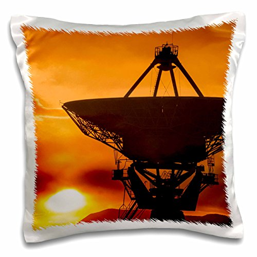 nt - Astromony - Radio telescope at sunset, Plains of San Agustin, Socorro, New Mexico - 16x16 inch Pillow Case (pc_259759_1) (Socorro Throw)
