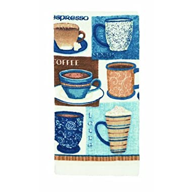 Ritz Kitchen Wears Print Velour Kitchen Towel, Gourmet Coffee