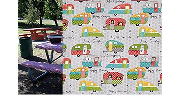 Custom Stay Put Fitted Tablecloth Table Cover For A 6 Ft Picnic