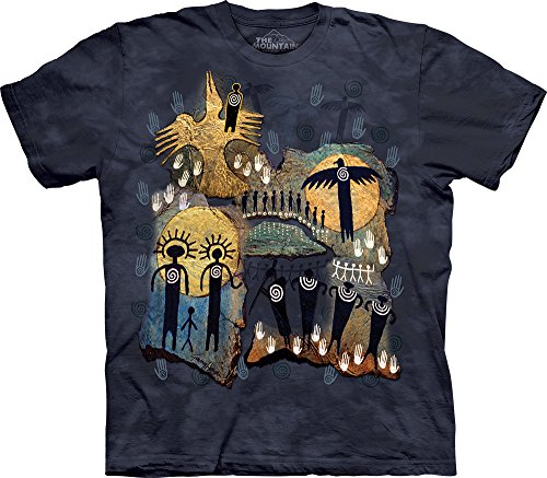 The Mountain Mens Flight Of The Shaman T Shirt  Gray Blue  X Large