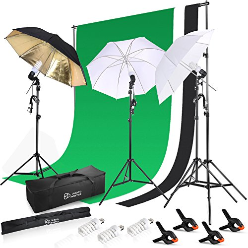 Photo Master 600W 5500K Photography Background Support System Continuous Lighting Kit For Photo Studio Product, Portfolio and Video Shooting Photography Studio by PHOTO MASTER
