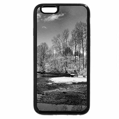 iPhone 6S Case, iPhone 6 Case (Black & White) - Winter Landscape