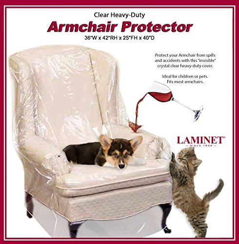 LAMINET Armchair/Recliner Cover - Clear (Covers Seat Plastic Dining Chairs For)
