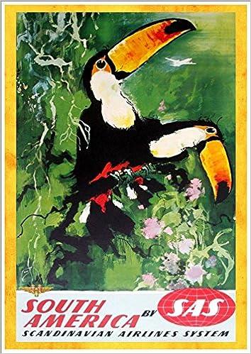SCANDINAVIA VINTAGE TRAVEL POSTER Amazing Painting RARE