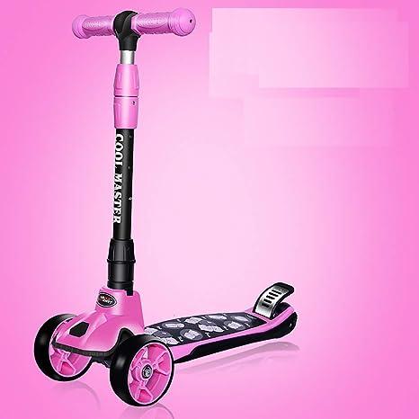 ZXH Patinete Plegable, 3 Ruedas Big Wheel Scooter Cubo de ...