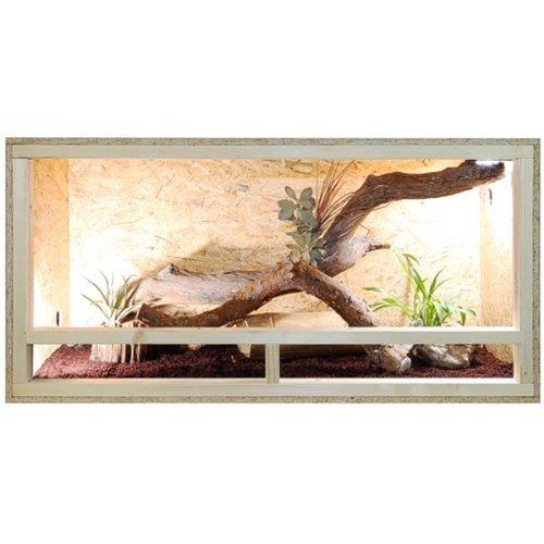 Terrario - Vivario de madera 120x60x60 cm - cómoda ventilación lateral - espesor del panel externo 12 mm