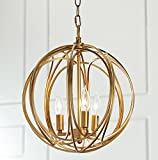 Docheer Wrought Iron Chandelier Ceiling Light Gold Industry Globe Chandelier Lighting Rustic Metal 3 Light Restaurant Bar Cafe Pendent Lights