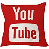 Home Decorative Polyester Pillow Case Square 18 x 18 Inches One' Side Printed