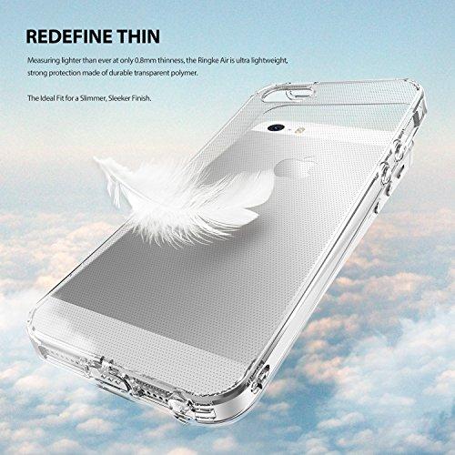 Ringke FUSION AIR iPhone SE Hülle Case [Staub Kappe][CRYSTAL VIEW] Ultra-Dünn Transparenter Soft Flexible TPU Bumper Cover für Apple iPhone SE