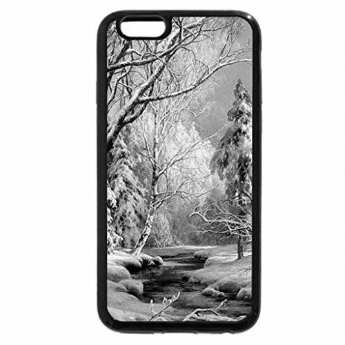 iPhone 6S Case, iPhone 6 Case (Black & White) - M. Satarov. Frost and sun