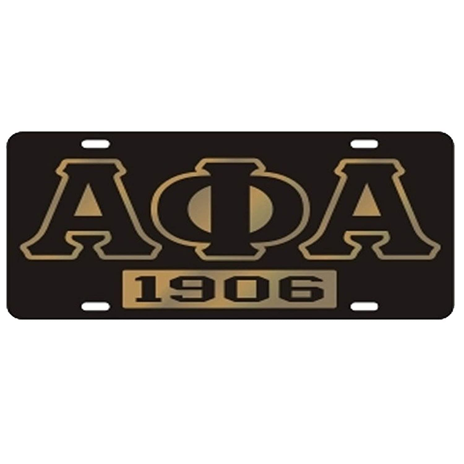 Amazon.com: Alpha Phi Alpha License Plate - Black, Founded: Clothing