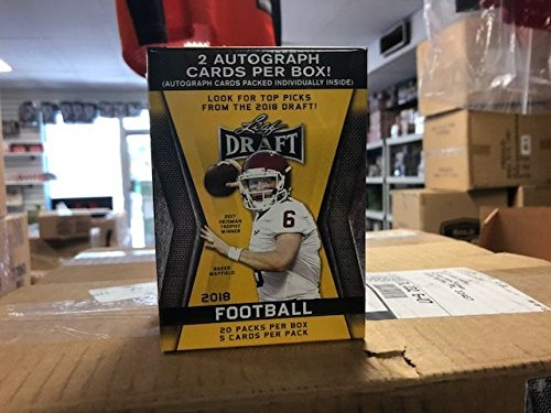 2018 Leaf Draft Football Factory Sealed Blaster Box -