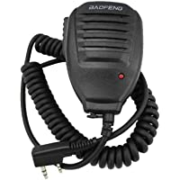 Kongnijiwa Haut-Parleur Original Radio Portable Mic pour BaoFeng CB Radio UV 5R GT-3 UV-5RE Plus UV-B5 UV-B6 BF-F8 + Talkie Walkie Transceiver