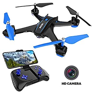 REMOKING RC Drone with 720P FPV Wi-Fi HD Camera Live Video Racing Quadcopter Headless Mode 2.4GHz 360°flip 4 Channels Altitude Hold Indoor and Outdoor Sport Game Gifts for Kids and Adults