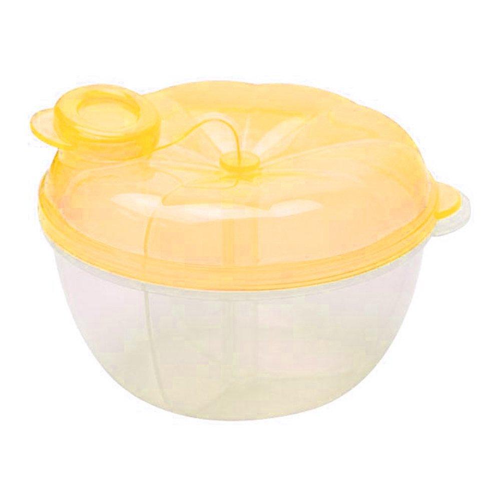3 Interlayer Dispenser Food Storage Snack Container Baby Feeding Travel Milk Powder Box Food Bottle Container size Pumpkin (Yellow)