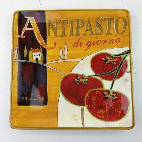 Pier 1 Cucina Antipasto Di Giorno Hand Painted Earthenware 8.5