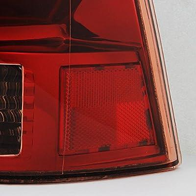 For Dodge Dakota Dark Red Rear Tail Lights Brake Lamps Driver Left + Passenger Right Replacement Pair: Automotive