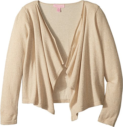 Lilly Pulitzer Kids Baby Girl's Mini Colony Cardigan (Toddler/Little Kids/Big Kids) Gold Metallic (Lilly Pulitzer Cotton Cardigan)
