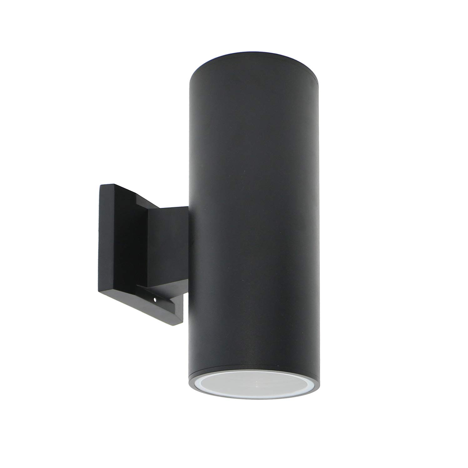 IN HOME 2-Light Outdoor Wall Mount Porch & Patio Cylinder Light C01, Modern Up Down Exterior Light Fixtures with Two E26 Base, Waterproof, Black Cast Aluminum Housing, ETL Listed