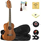 Oscar Schmidt OU28TE 8-String Tenor Ukulele in Satin Finish with Gig Bag,Alfred's Ukulele Book,Ukulele Strings,Clip-On Tuner,10 ft. Instrument Cable and Zorro Sounds Ukulele Polishing Cloth