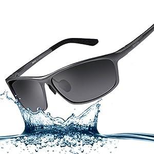 Bertha 2016 New Fashion Driving Polarized Sunglasses for Men Unbreakable-aluminum Frame 3230 Gun Frame with Grey Lenses