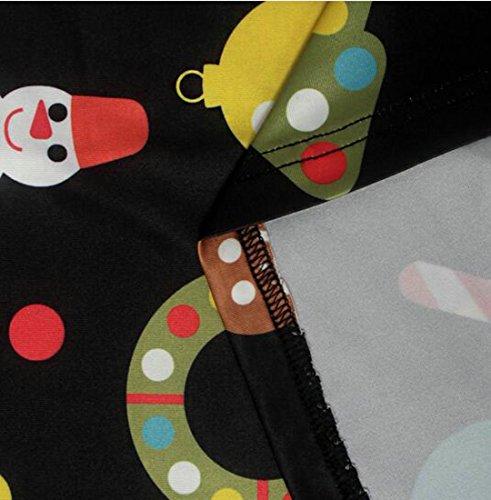 Manicotto Di Stampa Vestito Womens Natale Svasato Della Long Equipaggio Cruiize Collo Nero Del Casuale qt8SFp
