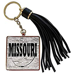 3dRose RinaPiro - US States - Missouri. State Capital is Jefferson City. - Tassel Key Chain (tkc_268704_1)