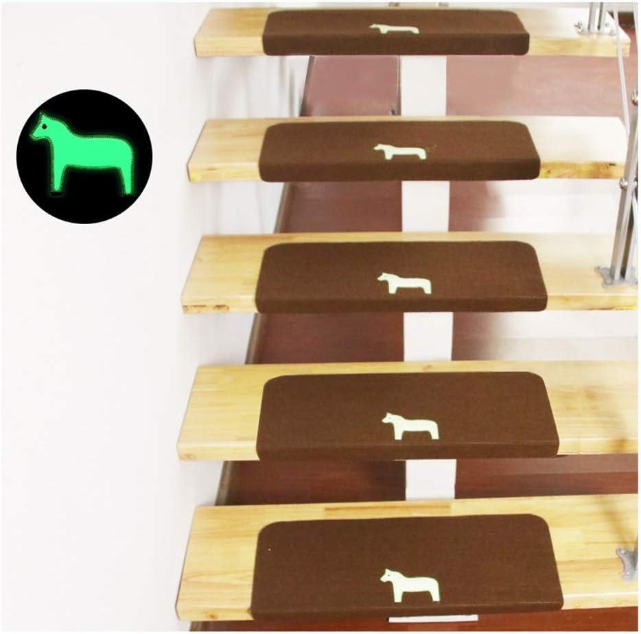 GJX-Alfombra de la Escalera Diseño Autoadhesivo Huellas De Escalón Mats Cojín Antideslizante Paso Protección Alfombra Cubierta De La Escalera De La Alfombra Luminosa: Amazon.es: Hogar