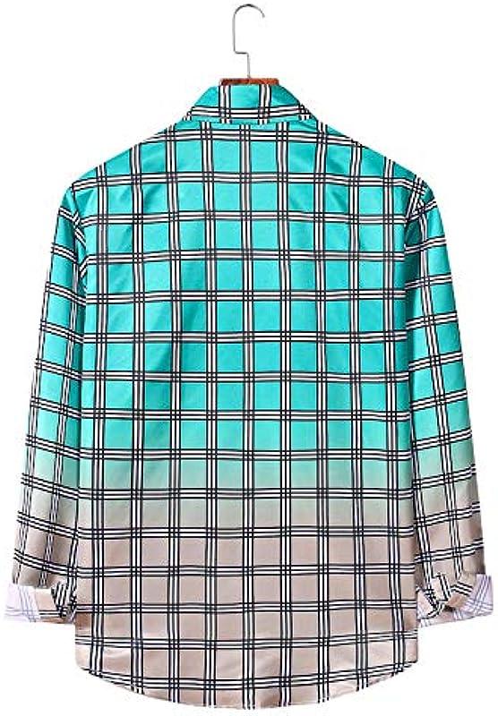 Męskie Cardigan Fashion Large Size Casual Plaid Farbverlauf Langarm Herbst und Winter Nähoberteil: Odzież