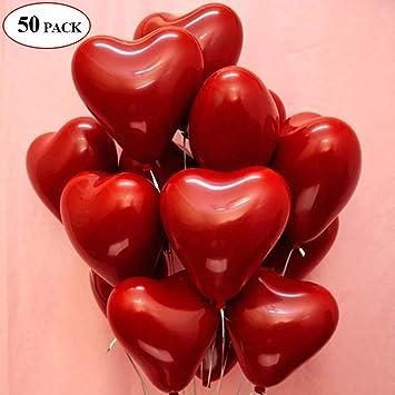 25 Herz Folienballons Rot Helium Luftballon für Romantische Romantisch Deko
