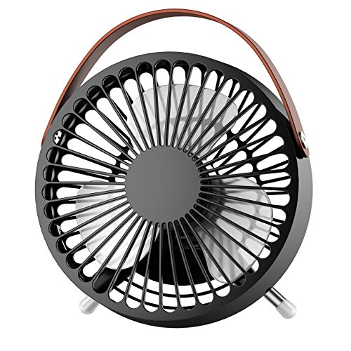 OMORC Mini USB Desk Fan, Super Quiet Portable Table Cooling Fan for Office, Home, Study 5.5-inch, (Home Ac Usb)