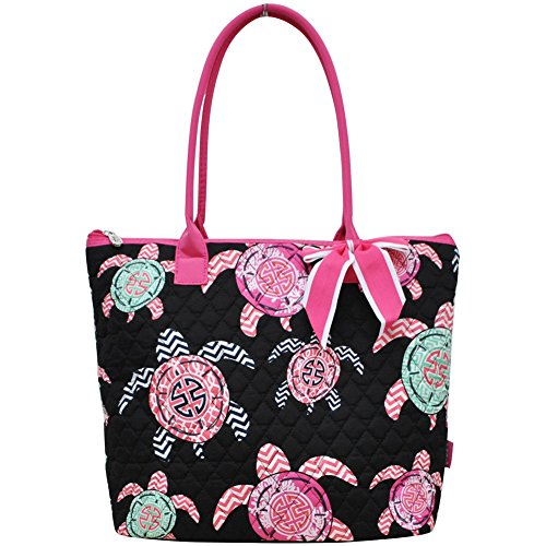Quilted Tote Bag With Pockets - 6