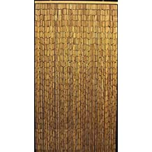 Captivating Master Garden Products Natural Beaded Bamboo Curtain, 36 By 78 Inch