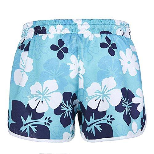 Casual Blu Floreali Pantaloncini Pants Shorts Navy Con Moda Spiaggia Hot Donne Estivo 05qxvv
